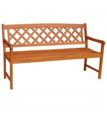 [3 Seater] Lattice Back Bench
