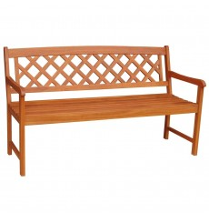 BE-53924 3-Seater Lattice Back Bench | Oil Dipped