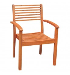 C-53914 Stacking Arm Chair | Oil Dipped