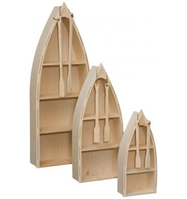 [19 Inch] Boat Bookshelves - 48H