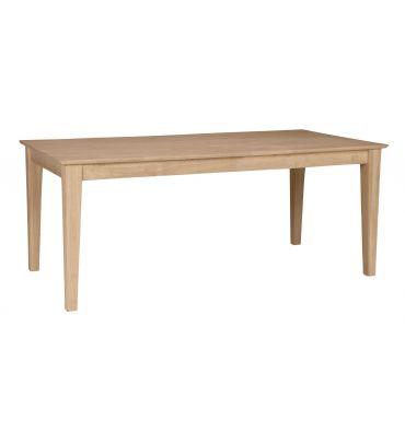 [72 Inch] Shaker Solid Dining Table