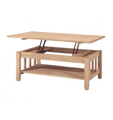 42 Inch Mission Lift Top Coffee Table