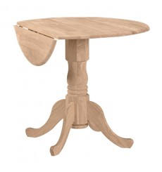 [36 Inch] Round Dropleaf Dining Table