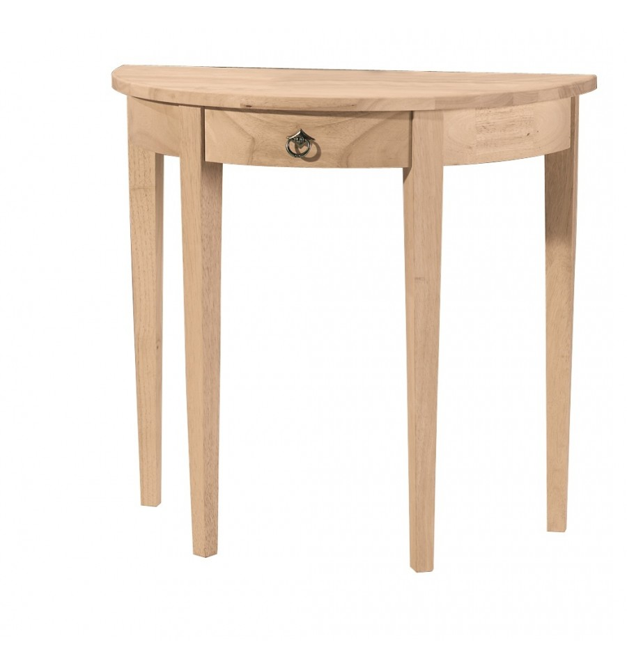 32 Inch Crescent Entry Table Wood You Furniture