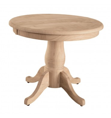 "[22 Inch] Table Top shown with 18P Turned Pedestal 18""H"