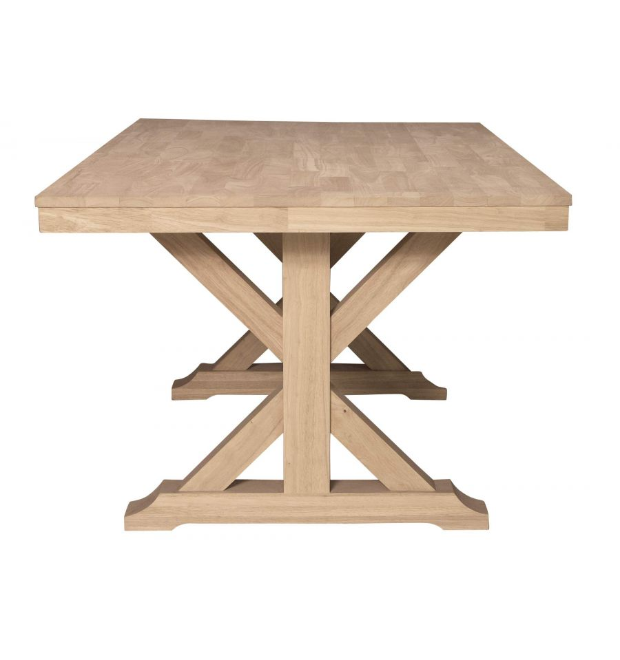 68 Inch Canyon X Dining Table Wood You Furniture