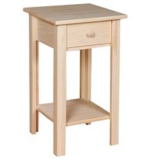 [13 Inch] White Horse Side Table