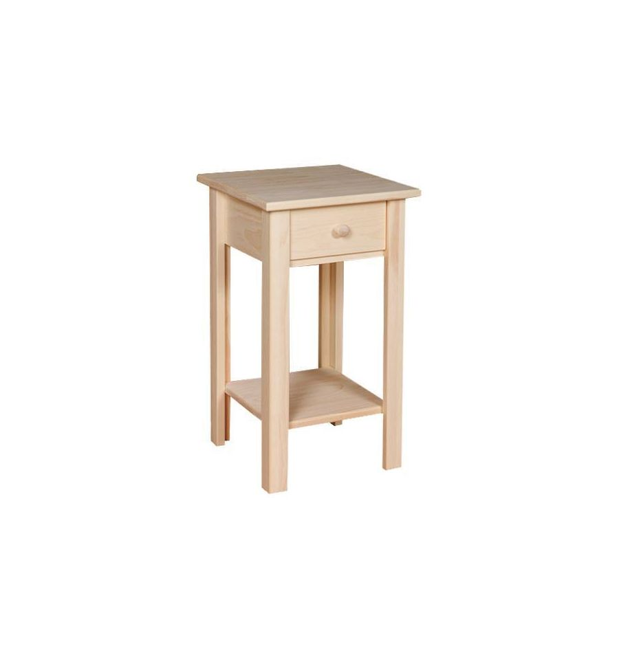 13 Inch White Horse Side Table Wood You Furniture