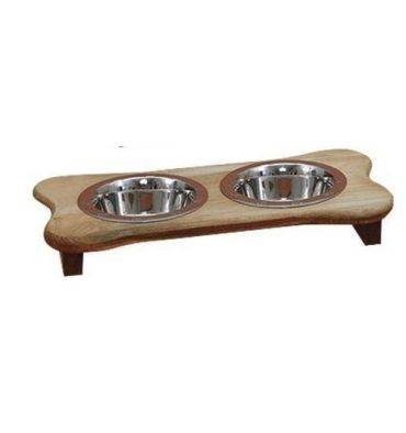 "[16 Inch] Dog Bone Feeder 2.50""H"