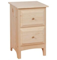 [18 Inch] 2 Drawer Nightstand