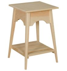 [18 Inch] Shaker Slat Table