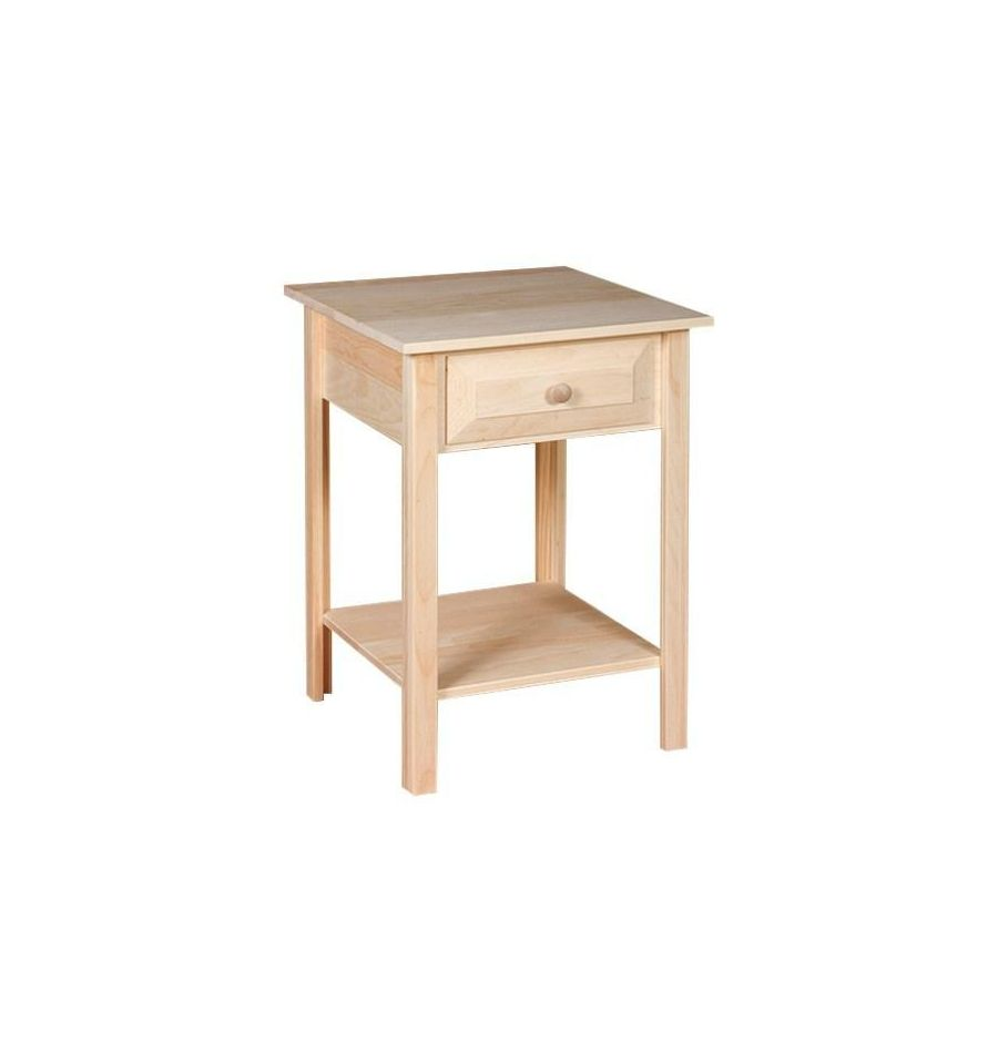 20 Inch White Horse Side Table Wood You Furniture