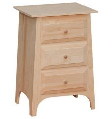 [21 Inch] Slant 3 Drawer Nightstand