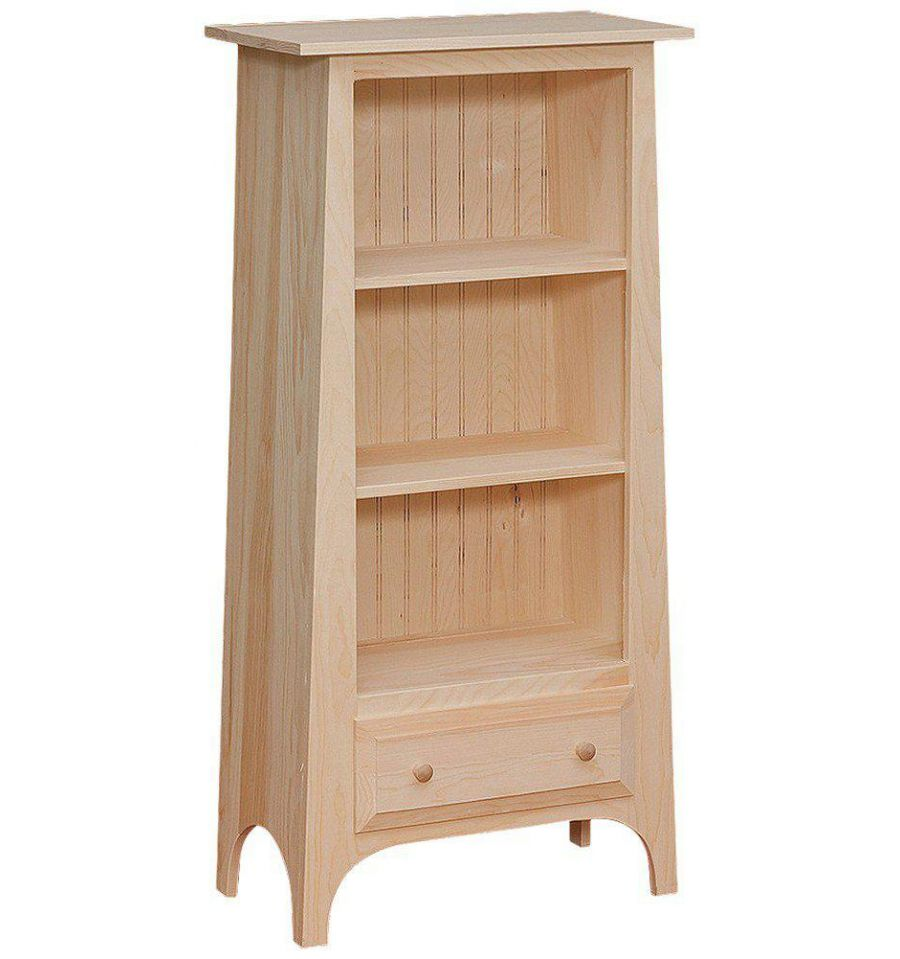 24 Inch Slant Bookshelf Wood You Furniture