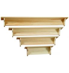 [24-60 Inch] Narrow Top Wall Shelf | Plain