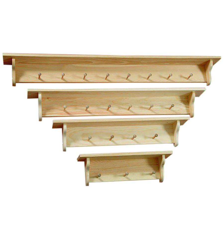 24 60 Inch Narrow Top Wall Shelves Peg Wood You