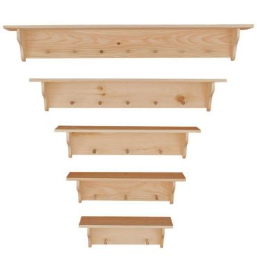 [24-60 Inch] Wall Shelves | Peg