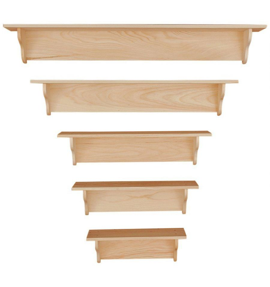 24 60 Inch Wall Shelves Plain Wood You Furniture
