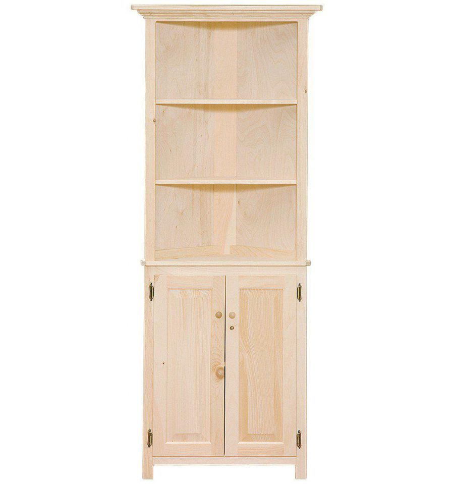 How To Stain Unfinished Kitchen Cabinets: [26 Inch] Corner Hutch