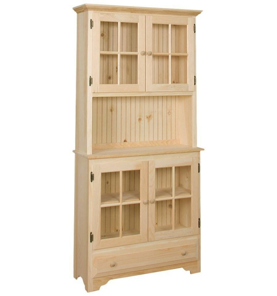 36 Inch Country Hutch Wood You Furniture