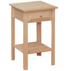 [16 Inch] White Horse Side Table