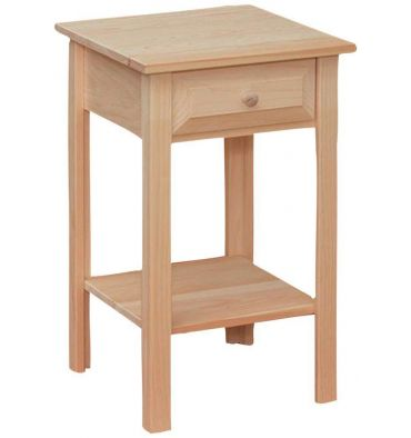 16 Inch White Horse Side Table Wood You Furniture