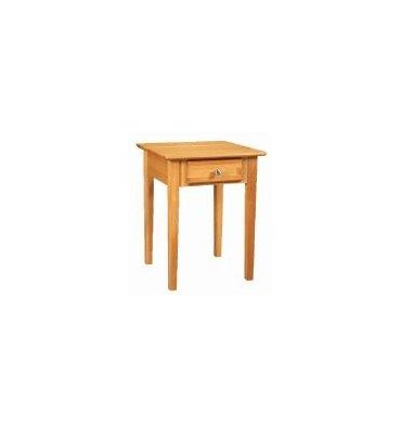 [20 Inch] Alder Shaker 1 Drawer End Table
