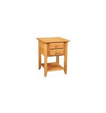 [20 Inch] Alder Shaker 2 Drawer End Table