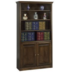 AWB Face Frame Crown Bookcases w Doors