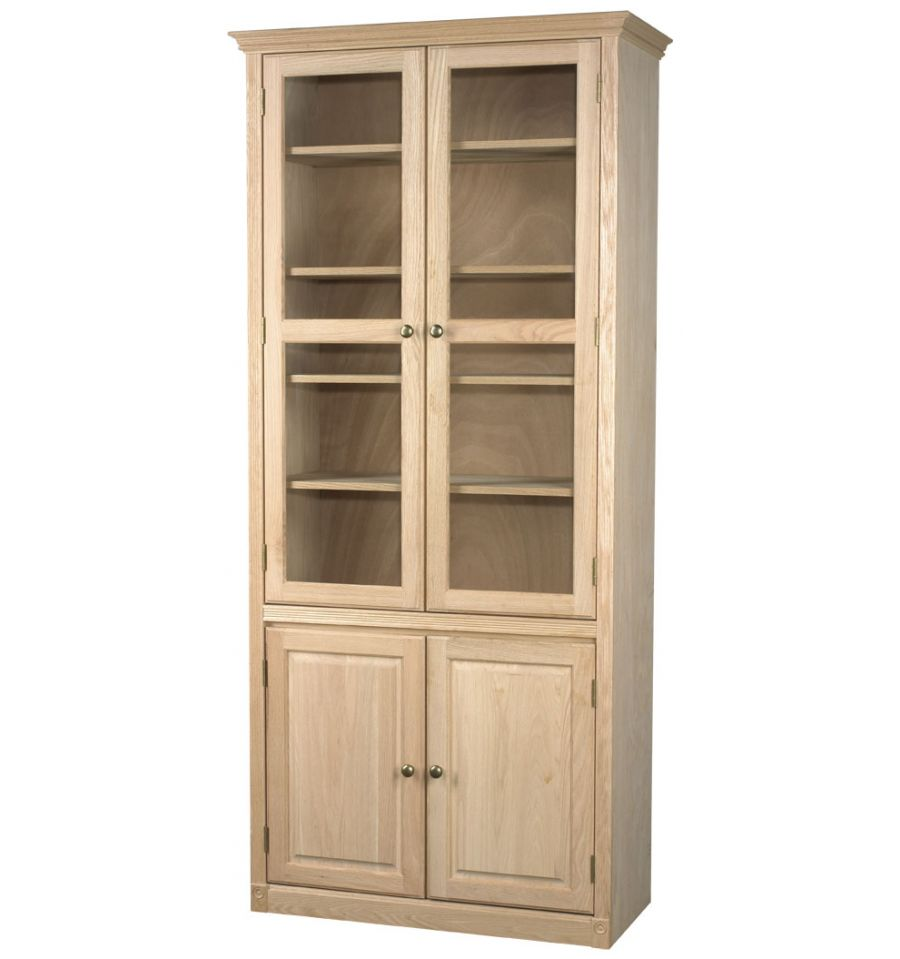 Federal Bookcases: Wood and Glass Doors | AWB-BK3 - Wood You ...