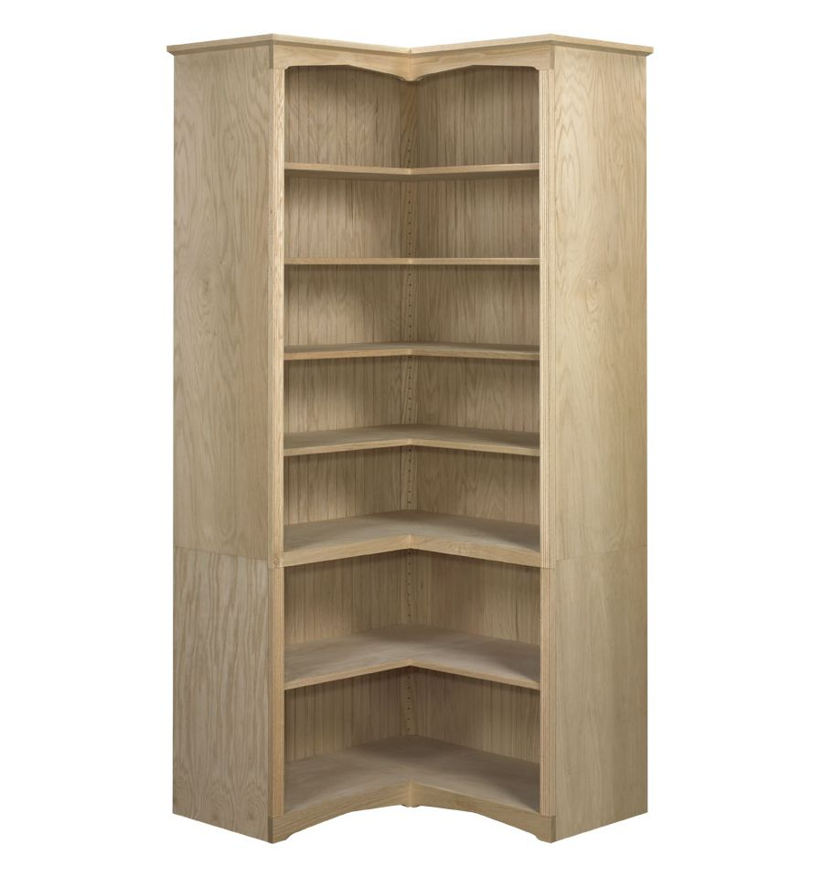 Federal Corner Bookcases: Open | AWB-BK6 - Wood You Furniture