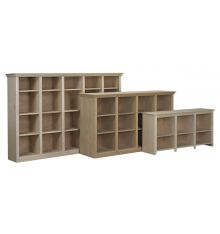 Face Frame Crown Bookcases: Open w Dividers | AWB-BK8