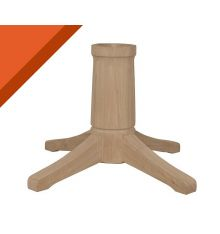 [7B] Transitional Dining Pedestal for Solid