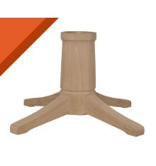 [17B] Transitional Dining Pedestal for Solid