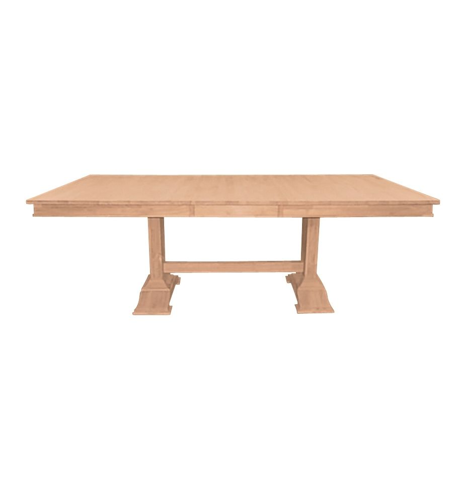 84 Inch Trestle Butterfly Dining Table