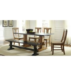 [72 Inch] Heavy Trestle Dining Table