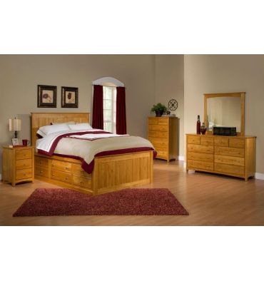 Alder Chest Beds: Twelve Drawers