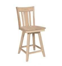 [24 Inch] San Remo Swivel Stool