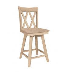 [24 Inch] Double XX Swivel Stool
