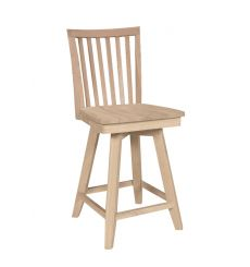 [24 Inch] Mission Swivel Stool