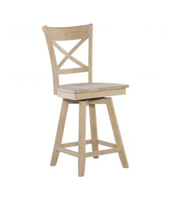 [24 Inch] Charlotte Swivel Stool
