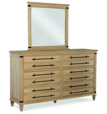 [68 Inch] Farmhouse Chic 6 Drawer Dresser