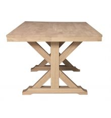 120 Inch Extension Farm Table - Wood You Furniture ...
